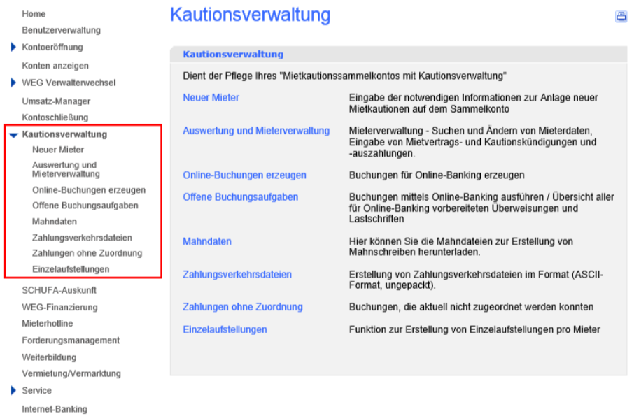 Kautionsverwaltung DKB Vermieterpaket